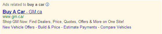 Ads google search example