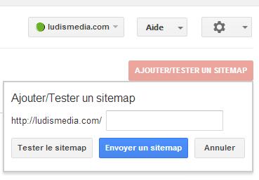 Google Webmaster Tools, Test Sitemap