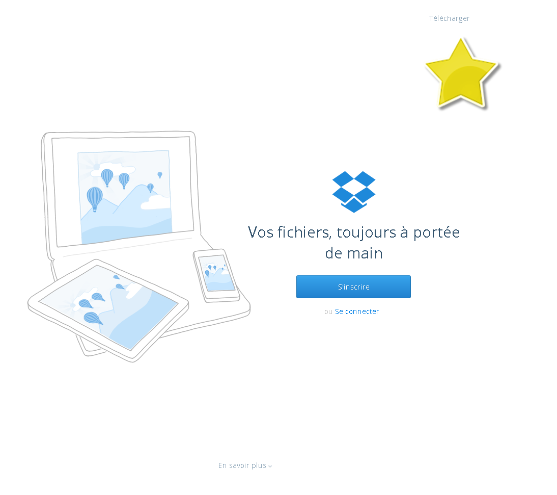 screenshot example dropbox