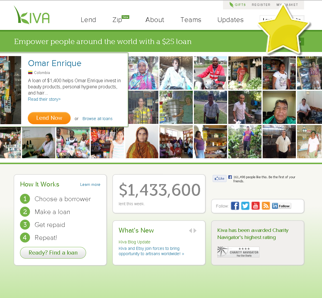 screenshot example kiva