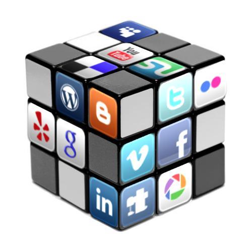 cube rubique des médias sociaux