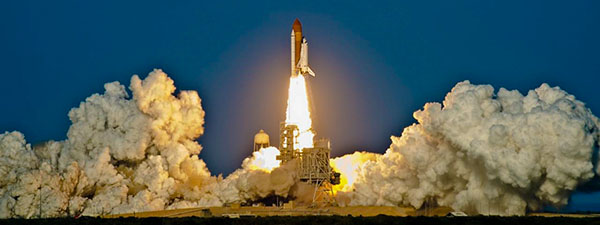 Lancement d'une fusée