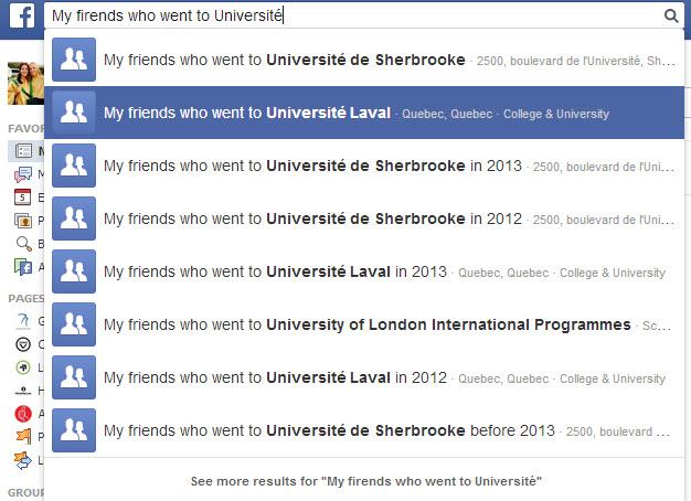Search FB