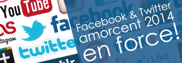 Facebook et twitter nouveautés 2014