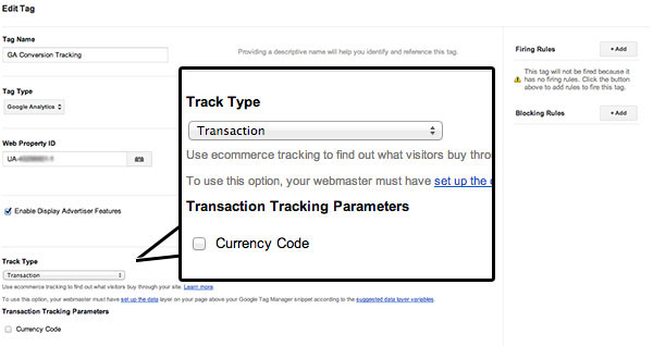 google tag manager transactions configuration A Guide To E Commerce Conversion Tracking Using Google Tag Manager