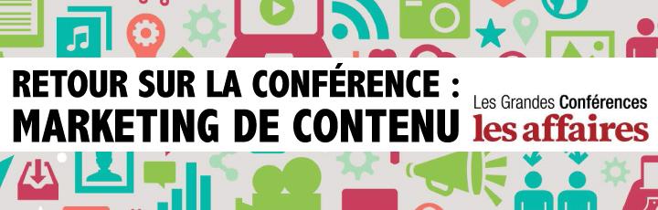 Recap: Conférence les affaires – le Marketing de contenu