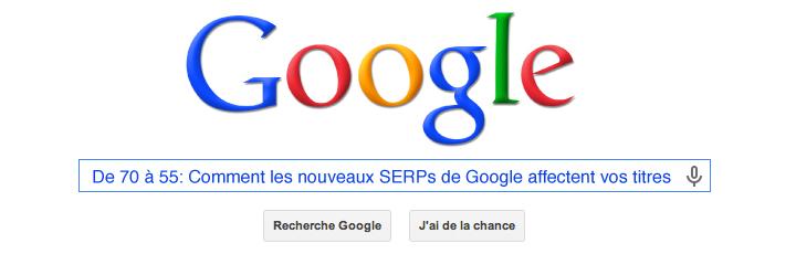 De 70 à 55: Comment les nouveaux SERPs de Google affectent vos titres