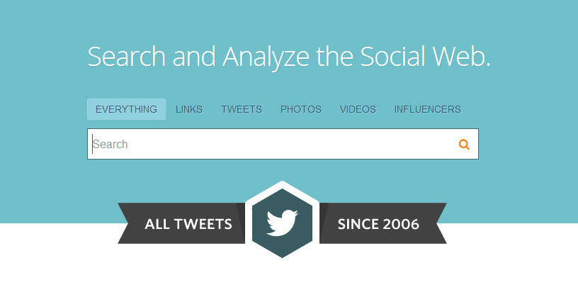 Topsy - Search and analyze the social web