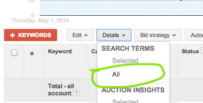 filtering-search-terms-google-analytics-dropdown-menu