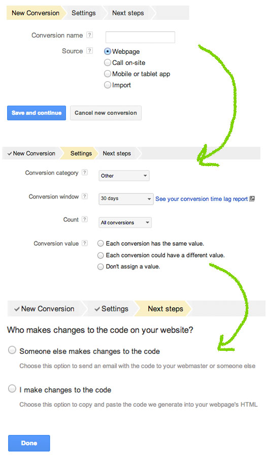 google-adwords-add-standard-conversion-tracking