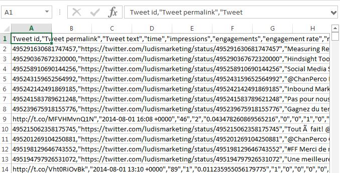 Twitter Export