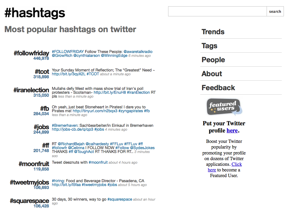 Hashtags and research - find the conversations