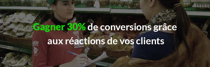 Comment la réaction des clients peut augmenter vos conversions de 30%