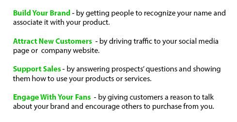 Sample social media goals to set