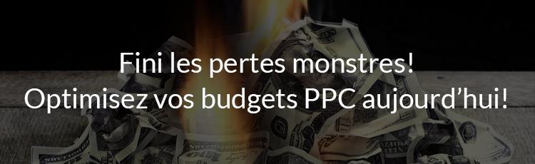 Fini les pertes monstres! Optimisez vos budgets PPC aujourd'hui!