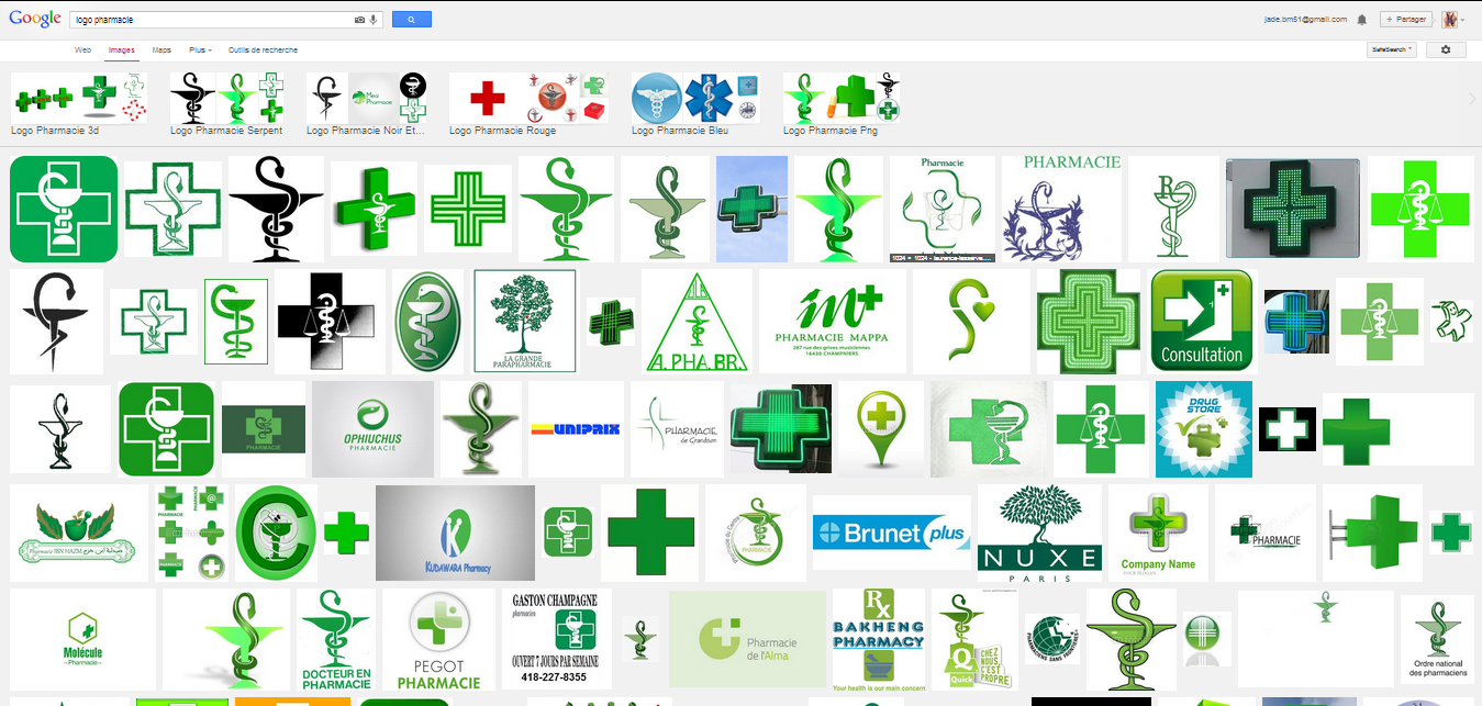 recherche sur google image de logos de pharmacies