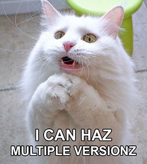 i-can-haz-multiple-versionz