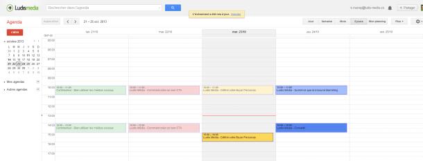 Calendrier google agenda