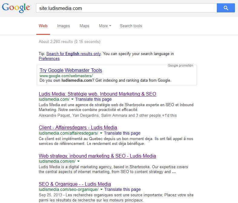 google site index
