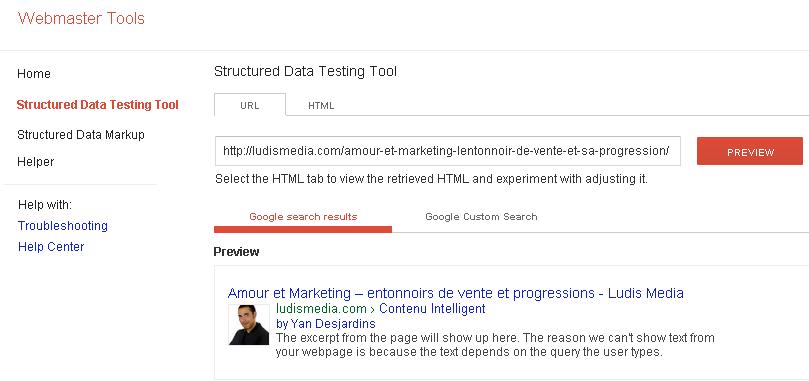webmaster-tools-données-sturcturées