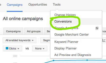 google-adwords-conversion-tracking-setup-dropdown