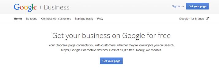 Google-create-page