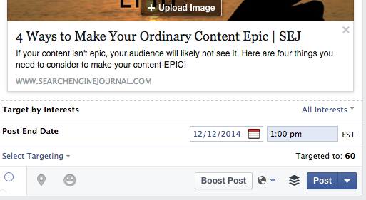 Post End Date - Facebook Insights Tools