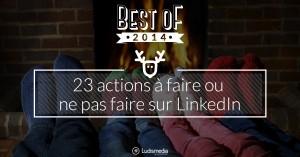 23 actions LinkedIn