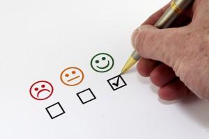 Bonhommes sourires pour évaluer la satisfaction des clients